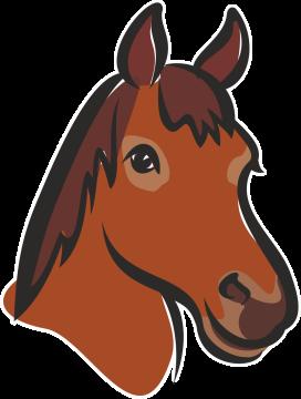 Autocollant Logo Animaux Ferme Cheval