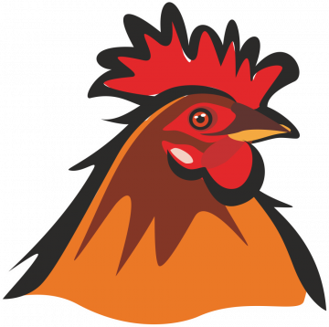 Autocollant Logo Animaux Ferme Poule