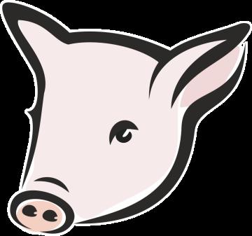 Autocollant Logo Animaux Ferme Cochon