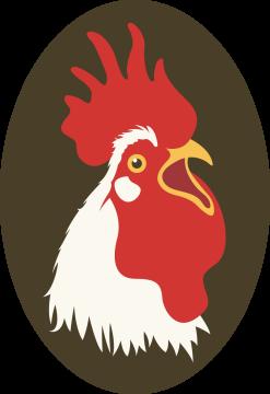 Autocollant Logo Animaux Ferme Coq 1