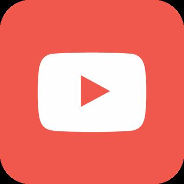 Autocollant Logo Réseau Social Youtube