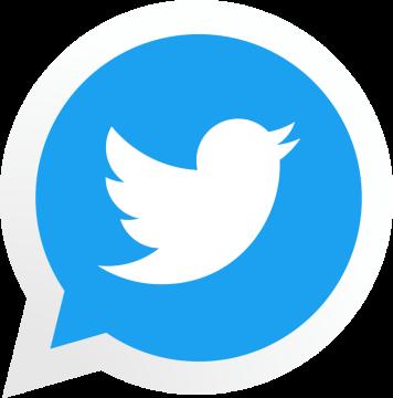 Autocollant Logo Réseau Social Twitter 2