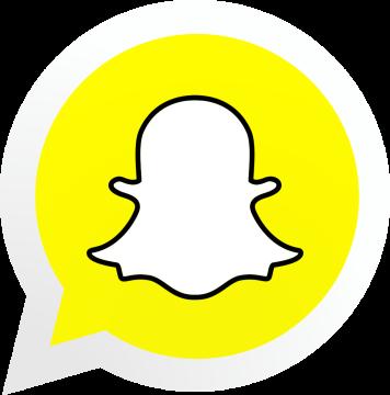 Autocollant Logo Réseau Social Snapchat 2