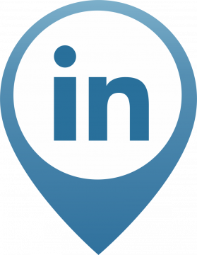 Autocollant Logo Réseau Social Linkedin 2