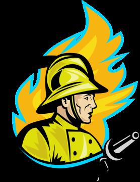 Autocollant Métier Pompier