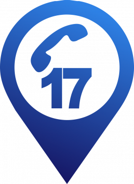Autocollant Logo Numéro Urgence 17