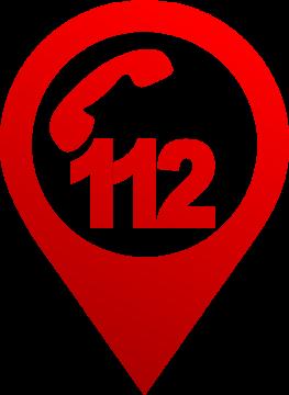 Autocollant Logo Numéro Urgence 112