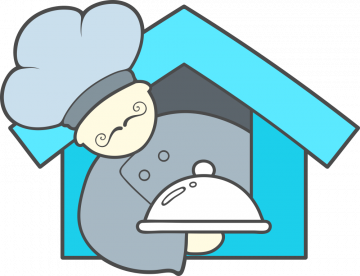 Autocollant Restaurant Logo Chef