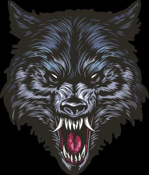 Autocollant Logo Loup