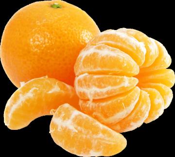 Autocollant Alimentation Fruit Clémentine