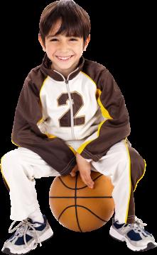 Autocollant Personne Enfant Basket 1