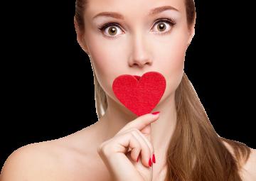 Autocollant Personne Femme Cœur Beauté 7