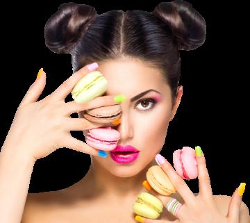 Autocollant Alimentation Macaron Femme 1