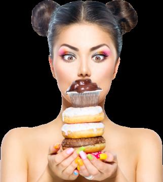 Autocollant Alimentation Donuts Femme 3