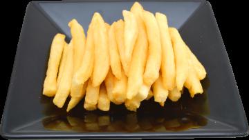 Autocollant Alimentation Frites Assiette