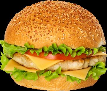 Autocollant Alimentation Hamburger Poulet