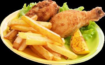 Autocollant Alimentation Frites Poulet