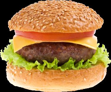Autocollant Alimentation Hamburger Bœuf