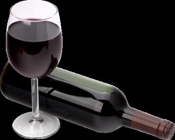 Autocollant Boisson Bouteille Verre Vin