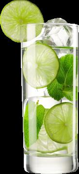 Autocollant Boisson Cocktail Citron Vert Menthe