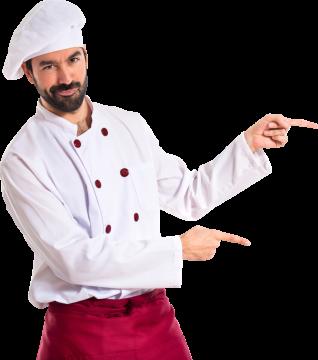 Autocollant Personne Chef Cuisinier Toque