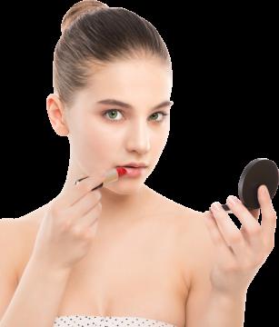 Autocollant Personne Femme Maquillage 1
