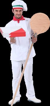 Autocollant Personne Chef Pizza