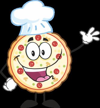 Autocollant Pizza Mascotte