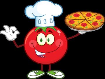 Autocollant Tomate Pizza Mascotte