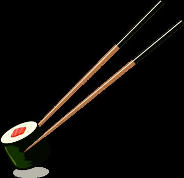 Autocollant Alimentation Japonais Sushi 1