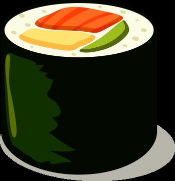 Autocollant Alimentation Japonais Sushi 8