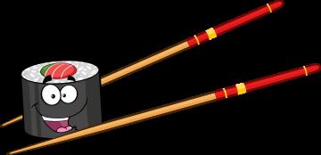 Autocollant Sushi Mascotte 1