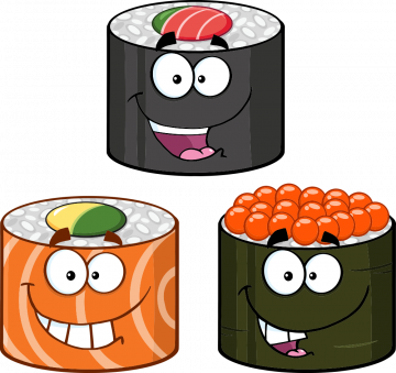 Autocollant Sushi Mascotte 2