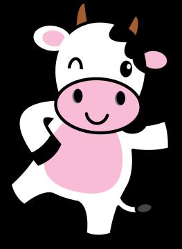 Autocollant Animaux Vache 1