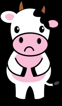 Autocollant Animaux Vache 2