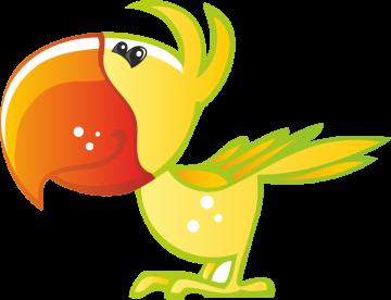 Autocollant Animaux Perroquet