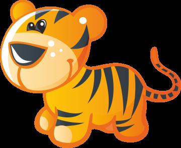 Autocollant Animaux Tigre