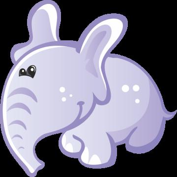 Autocollant Animaux Eléphant