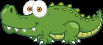Autocollant Animaux Crocodile
