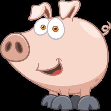 Autocollant Animaux Cochon 6