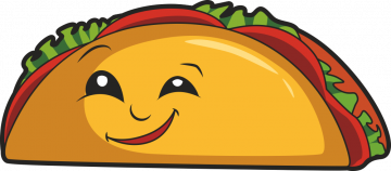 Autocollant Fast Food Tacos Smiley