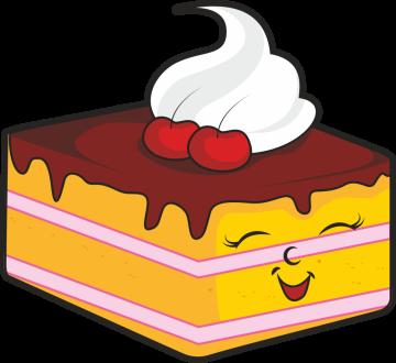 Autocollant Pâtisserie Gâteau Smiley