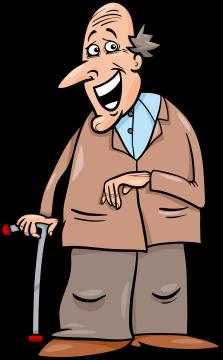 Autocollant Personnes âgées 1
