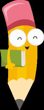 Autocollant Logo Crayon Mascotte 3