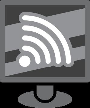 Autocollant Métier Informatique Wifi