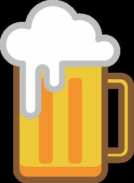 Autocollant Boisson Bière Mousse