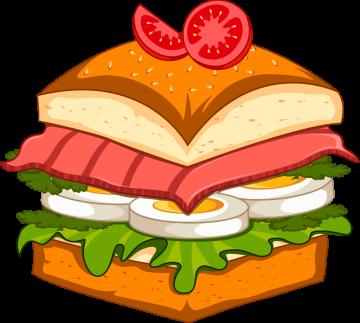 Autocollant Fast Food Hamburger 2