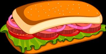 Autocollant Fast Food Sandwich 2