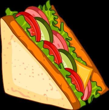 Autocollant Fast Food Sandwich 3