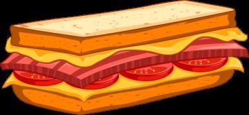 Autocollant Fast Food Sandwich 4